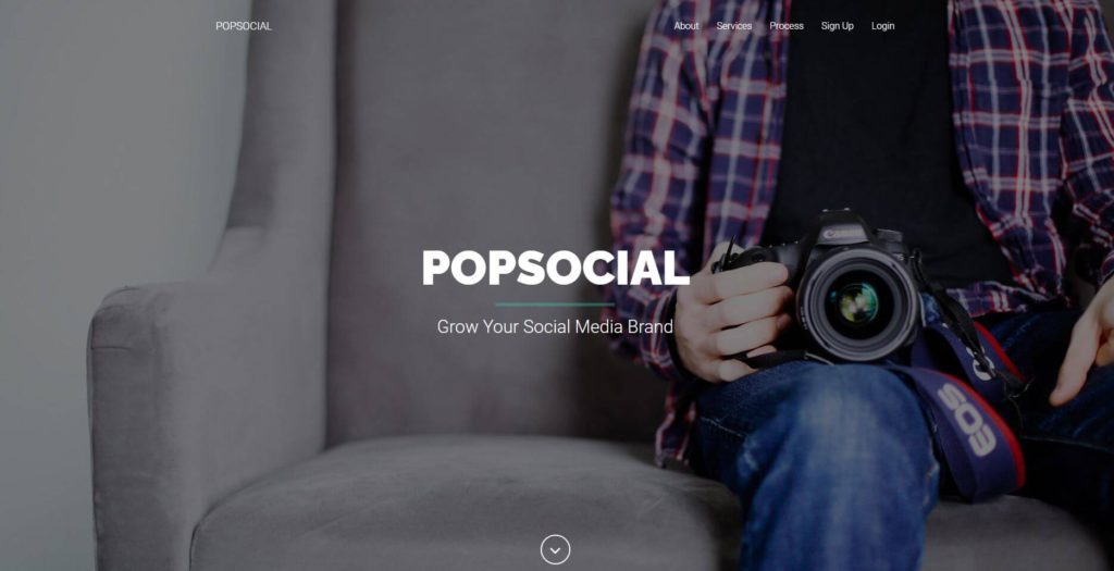 A picture of PopSocial's website