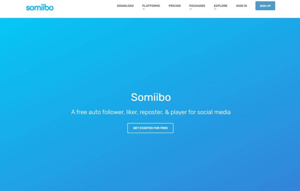 Somiibo's homepage on a screenshot