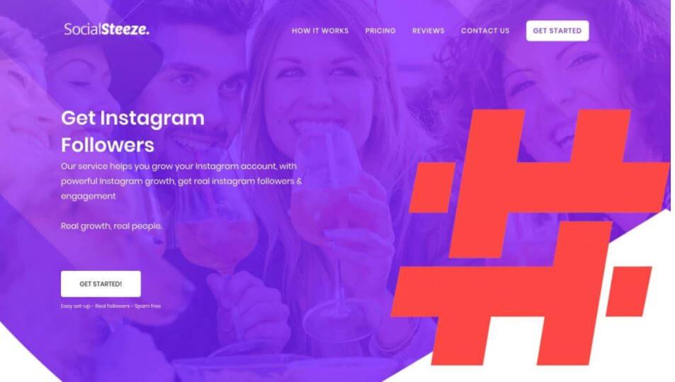 A screenshot of the former Social Steeze website
