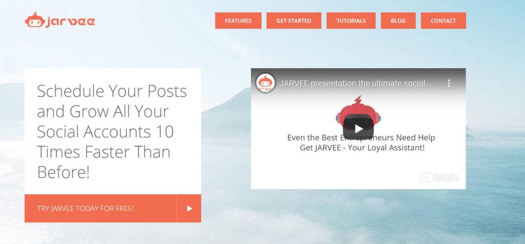A photo of Jarvee's website