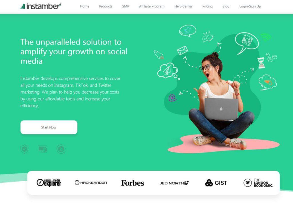 An image of Instamber's website