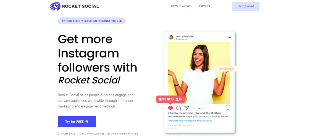 rocketsocial homepage